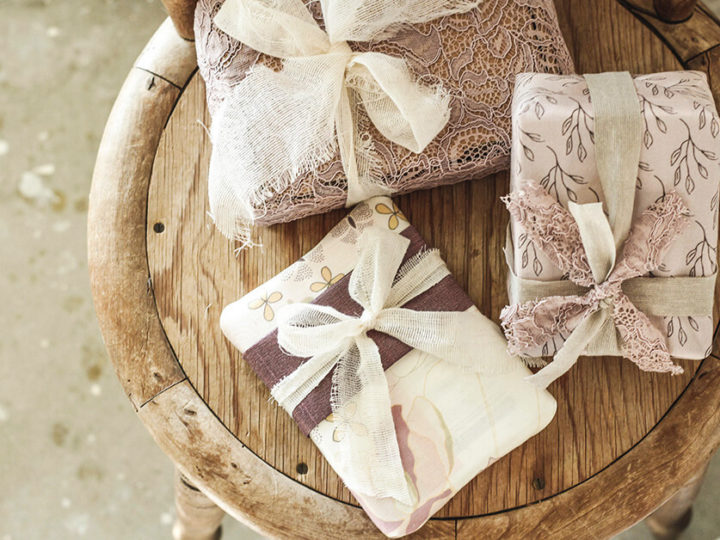 Wrap your Christmas presents in fabric scraps