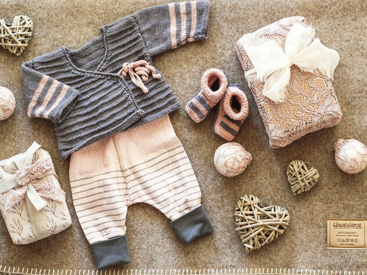 Super cute knitted sweater and baggy pants